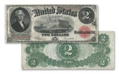 1917 Series $2 Jefferson Currency Note XF