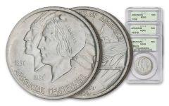 1935-1939 Arkansas Centennial Silver Half-Dollar 3-Piece Set NGC/PCGS MS65