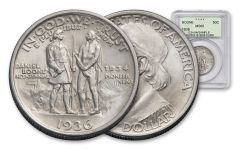 1934-1938 Daniel Boone Commemorative Half-Dollar NGC/PCGS MS65