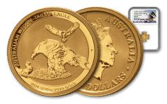 2018 Australia $15 1/10-oz Gold Wedge Tailed Eagle NGC MS70 First Releases