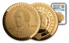 1903 Smithsonian Institution Morgan Treasury Medal 1-oz Gold NGC PF70UC