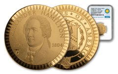 1903 Smithsonian Institution Morgan Treasury Medal 1/2-oz Gold NGC PF70UC