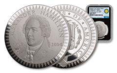 1903 Smithsonian Institution Morgan Treasury Medal 1-oz Silver NGC Gem Proof - Black Core