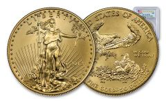 2018-W $50 1 Ounce Burnished Gold American Eagle PCGS SP70 FS Flag Label