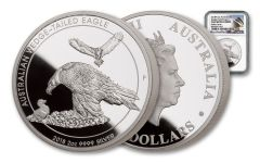 2018 Australia $2 2-oz Silver Wedge Tailed Eagle Piedfort NGC PF69UC