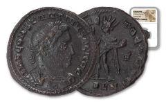 A.D. 307–337 Roman Billon Nummus of Constantine I London Mint NGC XF