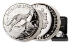 2018 Australia $1 1-oz Silver Kangaroo High Relief Proof