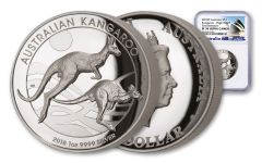 2018 Australia $1 1-oz Silver Kangaroo High Relief NGC PF70UC First Releases