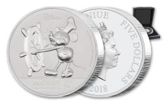 2018 Niue $5 2-oz Silver 90th Anniversary of Mickey Mouse Ultra High Relief Proof