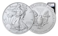 2017-(P) 1 Dollar 1 Ounce Silver Eagle Struck At Philadelphia NGC MS69 Early Releases - Black Core