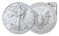 2017-(P) 1 Dollar 1 Ounce Silver Eagle Struck At Philadelphia NGC MS69 Early Releases - Liberty Bell Label