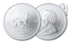 2018 South Africa 1-oz Silver Krugerrand BU – Roll of 25