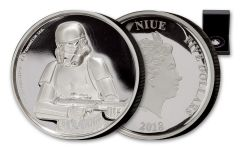 2018 Niue $5 2-oz Silver Star Wars Stormtrooper Ultra High Relief Proof