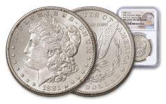 1881-S Morgan Silver Dollar New York Bank Hoard Treasury NGC BU