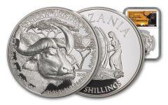 2018 Tanzania 1-Ounce Silver Buffalo Serengeti Big 5 NGC PF70UC - Serengeti Label