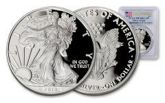 2018-S $1 1-oz Silver Eagle PCGS PR70 DCAM First Strike - Flag Label