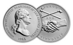 George Washington Presidential 1-oz Silver Medal BU