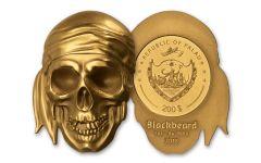 2018 Palau $200 1-oz Gold Blackbeard Matte Proof