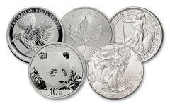 5-Piece 2018 1-Ounce Silver World Coin Starter Pack BU