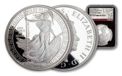 2018 Great Britain One-Ounce Silver Oriental Britannia NGC PF70UC First Day of Issue