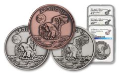 Apollo 11 Robbins Medals 3-Piece Set NGC MS70 - 50th Anniversary Commemorative