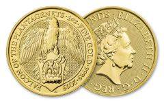 2019 Great Britain 1-oz Gold Queen's Beasts Falcon of the Plantagenets BU