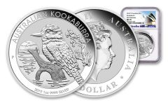 2019 Australia 1 Dollar 1-oz Silver Kookaburra NGC MS70 First Releases