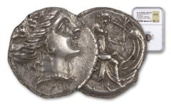 Ancient 300-200 BC Nymphs of Athens Silver Tetrobols of Euboea NGC CH XF