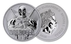 2018 Tuvalu $1 1-oz Silver Deadpool BU