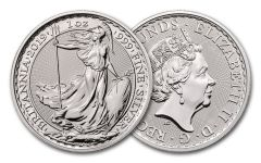 2019 Great Britain 2-Pound 1-oz Silver Uncirculated