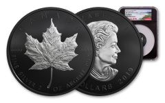 2019 Canada $10 2-oz Silver Maple Leaf Black Proof NGC PF70 First Releases - Black Core