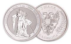 2019 Germany 1-oz Silver Germania BU
