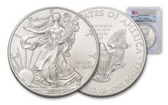 2019 $1 1-oz Silver American Eagle PCGS MS70 First Strike