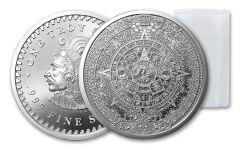 2018 Golden State Mint 1-oz Silver Aztec Calendar Round BU 20-Piece Roll