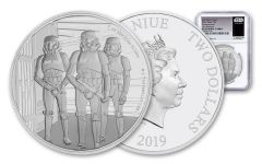 2019 Niue $2 1-oz Silver Star War Stormtroopers NGC PF69UC First Releases - Star Wars Label