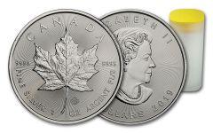 2019 Canada $5 1-oz Silver Maple Leaf BU Roll of 25