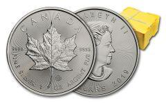 2019 Canada $5 1-oz Silver Maple Leaf BU Monster Box of 500