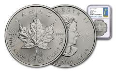 2019 Canada $5 1-oz Silver Maple Leaf NGC MS69 First Day of Issue