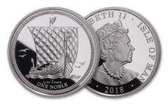 2018 Isle of Man 1-oz Silver Noble Premium Uncirculated