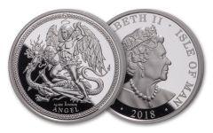 2018 Isle of Man 1-oz Silver Angel Premium Uncirculated
