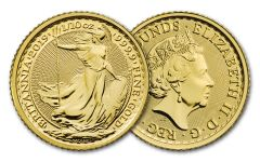 2019 Great Britain 10-Pound 1/10-oz Gold Britannia Uncirculated