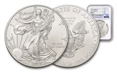 2019 $1 1-oz Silver American Eagle NGC MS69 Early Releases