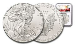 2019 $1 1-oz Silver American Eagle NGC MS70 First Releases - Eagle Label