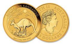 2019 Australia $15 1/10-oz Gold Kangaroo BU
