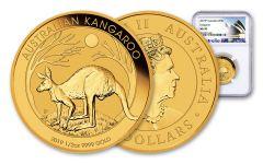 2019 Australia $50 1/2-oz Gold Kangaroo NGC MS70