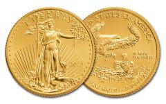 2019 $5 1/10-oz Gold American Eagle BU