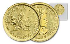 2019 Canada $5 1/10-oz Gold Maple Leaf BU Mint Sealed