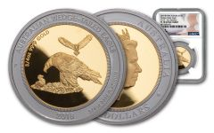 2018 Australia $150 1.5-oz Gold & Platinum Bi-Metal Wedge Tailed Eagle NGC PF70 First Releases - Mercanti Signed Label