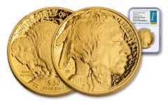 2018-W $50 1-oz Gold Buffalo NGC PF70UC First Day of Issue