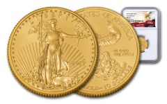 2019 $10 1/4-oz Gold American Eagle NGC MS70 Early Releases - Eagle Label